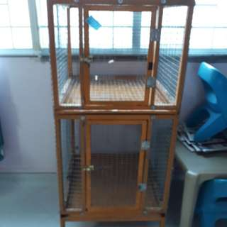 Handmade Double decker big parrot cage