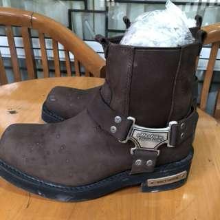 Sepatu Boots cowok Harley Davidson