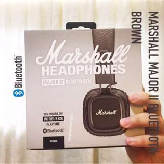 Jual Marshall Major II Bluetooth - Brown
