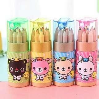 Pensil Warna Tabung Binatang Wisudawan 12
