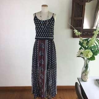 Resort Wear - Ethnic Print Maxi Dress