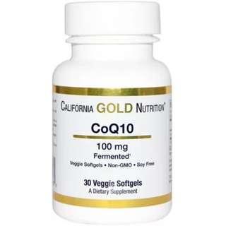 CoQ10 100mg, 30 veggie softgels