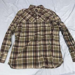 Gap Plaid Long Sleeve Shirt (L)