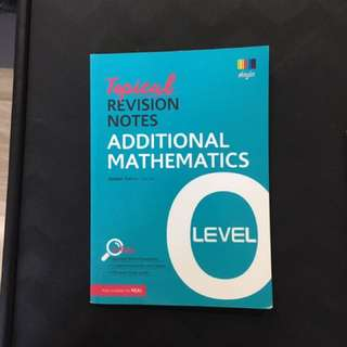 Shinglee Tropical Revision Noted- AdditionAl Mathematics 'O' Level