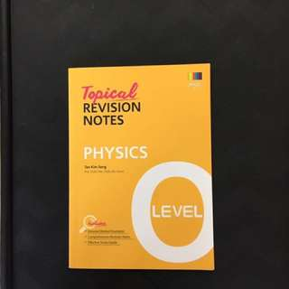 Shinglee Tropical Revision Notes - Ohysics 'O' Level