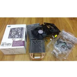 Cooler Master Hyper 212 EVO CPU Cooler + additional Blade Master 120 Fan in push pull fan.