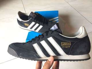 "ADIDAS DRAGON Black White ""BNWB"" size 42 2/3 100% original!"