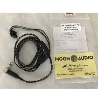 Moon Audio Silver Dragon V2 For JH Jerry Harvey IEM 4 Pin 3.5mm Oyaide Rhodium Plug