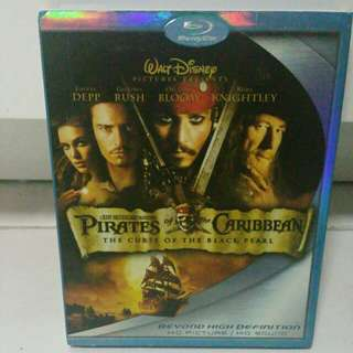 Pirates of the Caribbean 2 Discs Blu Ray set with Slipcover