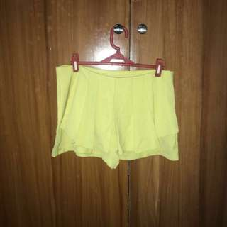 Yellow green skort