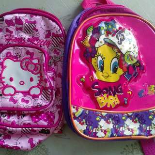 Authentic tweety bag with free hello kitty bag