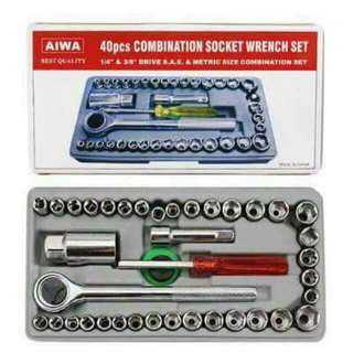40 pcs combination socket wrench set
