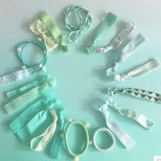 mint green hair bands