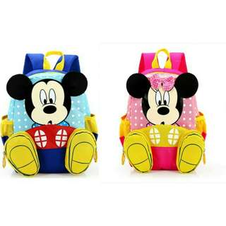 Mickey Minnie Children Backpack