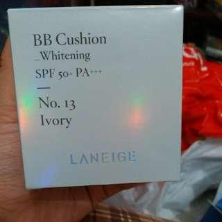 Laneige BB Cushion Whitening + Free Refil No 13 Ivory