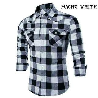 LVRP - MACHO RED 67.000 Kemeja pria lengan panjang bahan katun yandet LD104 PB70 Slim Fit berat 0.2