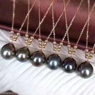 18K黃金 天然大溪地海水珍珠項鍊