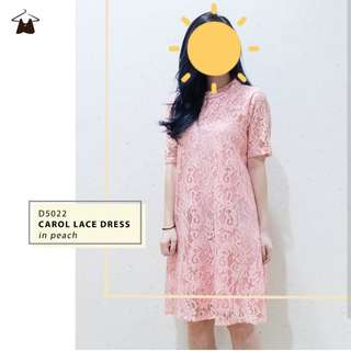 New! Dress Pesta Brokat Warna Peach