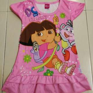 Disney Dora Dress (watsapp 017-6883388 for fast response)