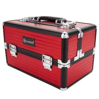 100% Genuine BH Cosmetics Train Case in Red.