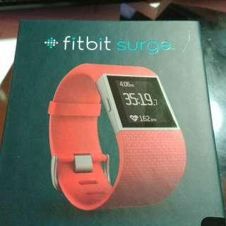 New fitbit surge orange large