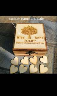 Customise Wedding well wishes box