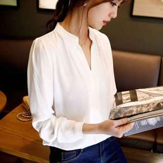OFFER! Casual Office Blue Blouse