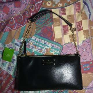 100%new Kate Spade wellesley bag handbag in black color