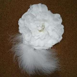 Bunga aksesoris rambut pengantin Warna putih