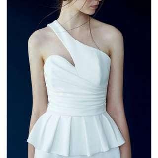 Doublewoots White Peplum Dress