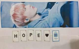BTS韓站JHOPE BOX SLOGAN + Poster全齊