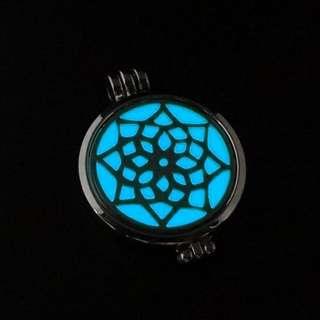 Glow in dark ~ Essential Oil Perfume Diffuser Oils Locket Necklace