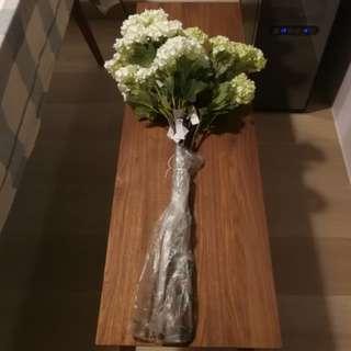 白色 米黃色 花束 共10束, 裝飾家居必備