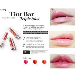 VDL Triple Shot Lip Tint Bar - 501 (Triple Red)