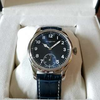 Montblanc 1858 Blue Dial Manual Small Second