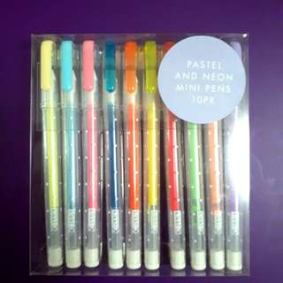 Kikki k pastel and neon mini pens