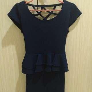 Preloved peplum dress