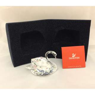 """Swarovski Crystal Swan Large 3"""" Clear A7633 with certificate"""
