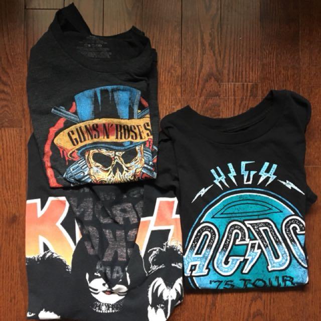 3 Vintage Rock Concert T-shirts (small/med)