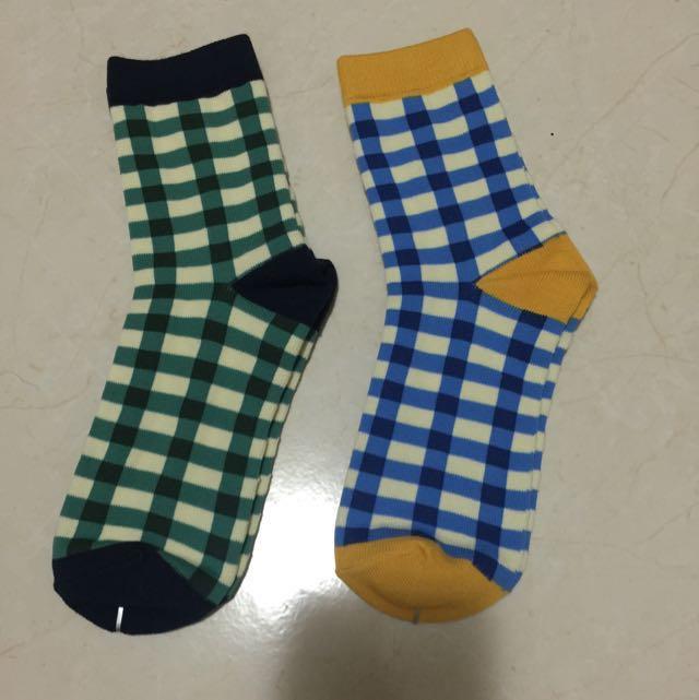 襪子彩色格子