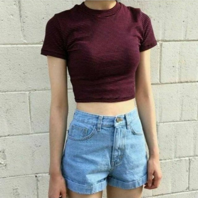 全新韓版高腰反折牛仔褲+韓版質感圈圈皮帶