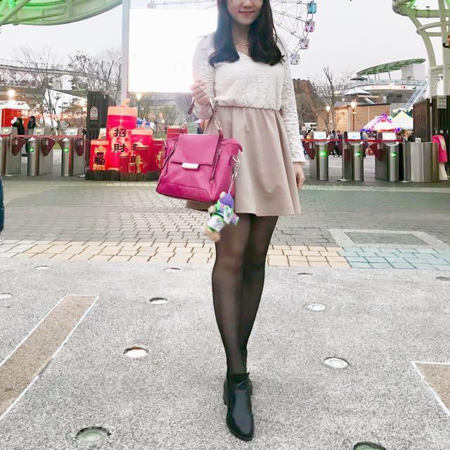 韓製 蕾絲拼接洋裝