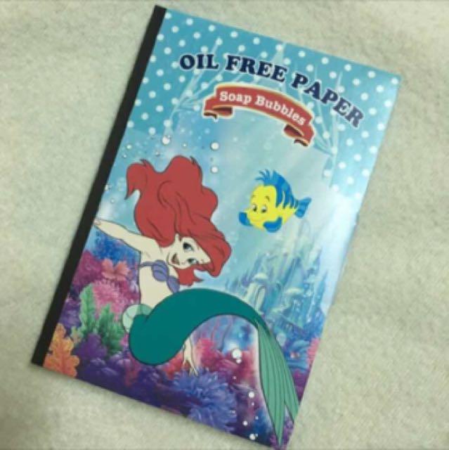 🇯🇵迪士尼 小美人魚立體紙雕 吸油面紙