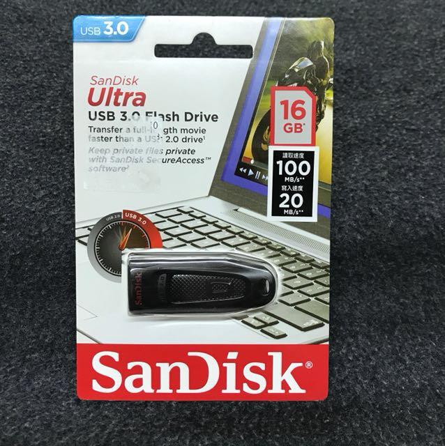 全新品 SanDisk USB 3.0 16GB