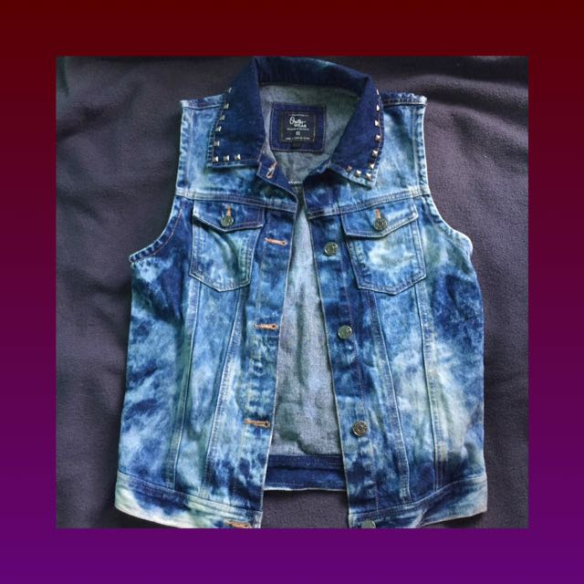 acid wash vest