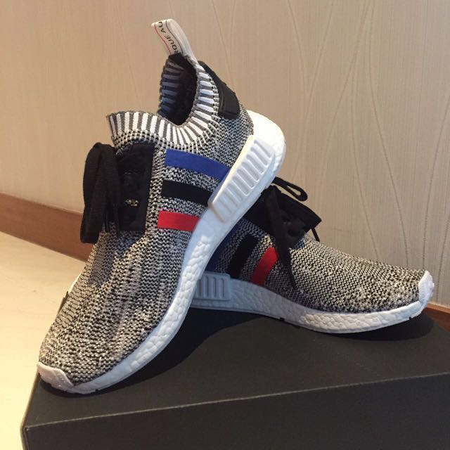 4ffdcfb66 Adidas Originals NMD R1 Primeknit Tri Color White