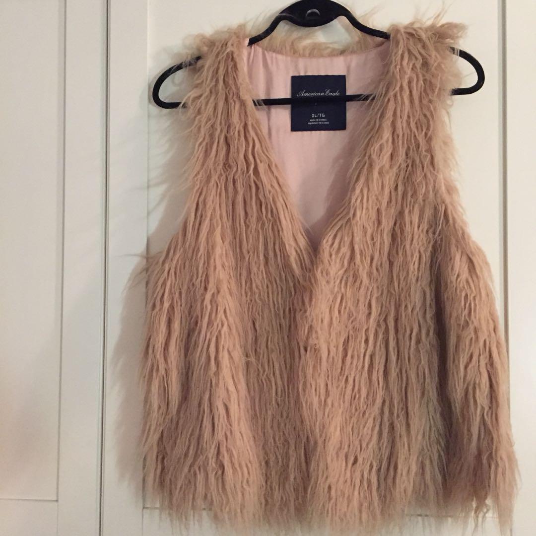 AE faux fur vest