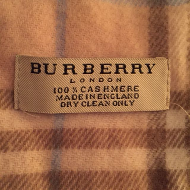 Authentic Burberry Pink scarf