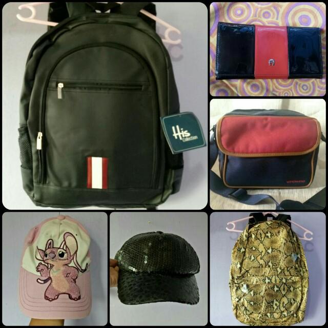 Bags, caps & wallet