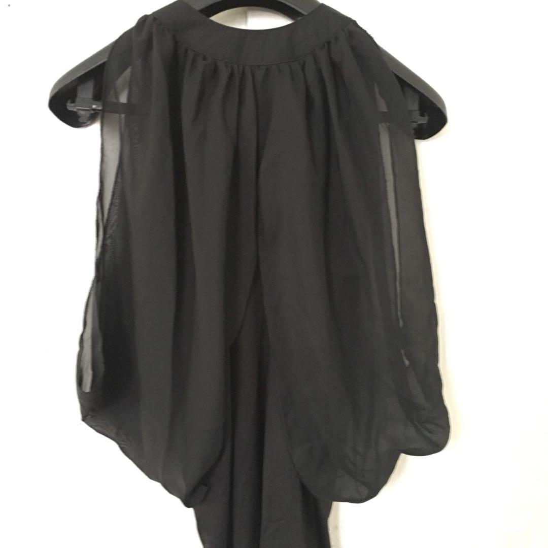 Black batwing blouse